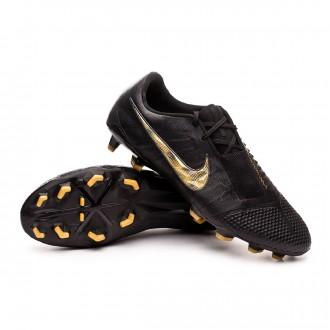 Chaussure de foot  Nike Phantom Venom Elite FG Black-Metallic vivid gold