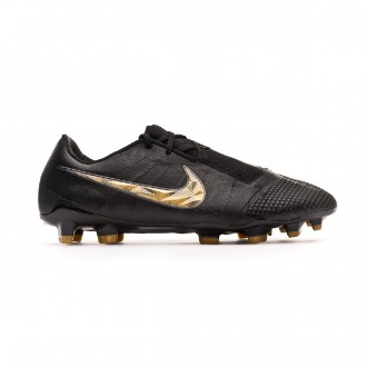 Chuteira Nike Phantom Venom Elite FG Black-Metallic vivid gold