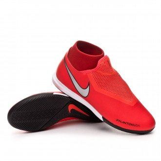 Futsal Boot  Nike Phantom Vision Academy DF IC Bright crimson-Metallic silver
