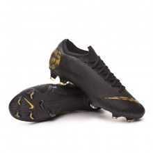 Chaussure de foot Mercurial Vapor XII Elite FG Black-Metallic vivid gold