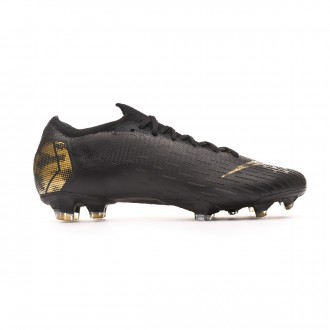 3cdd077e3 Football Boots Nike Mercurial Vapor XII Elite FG Black-Metallic vivid gold