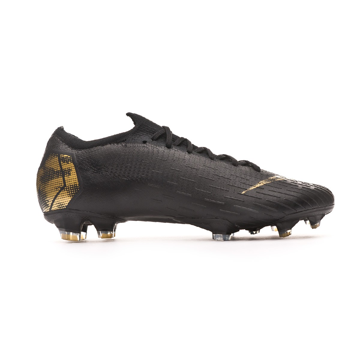 hot sale online 1bbd5 df074 Bota Mercurial Vapor XII Elite FG Black-Metallic vivid gold