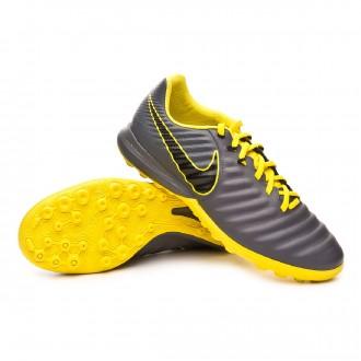 Chaussure de football  Nike Tiempo LegendX VII Pro Turf Dark grey-Black-Optical yellow
