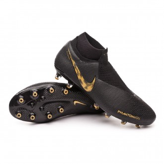 Chaussure de foot  Nike Phantom Vision Elite DF AG-Pro Black-Metallic vivid gold