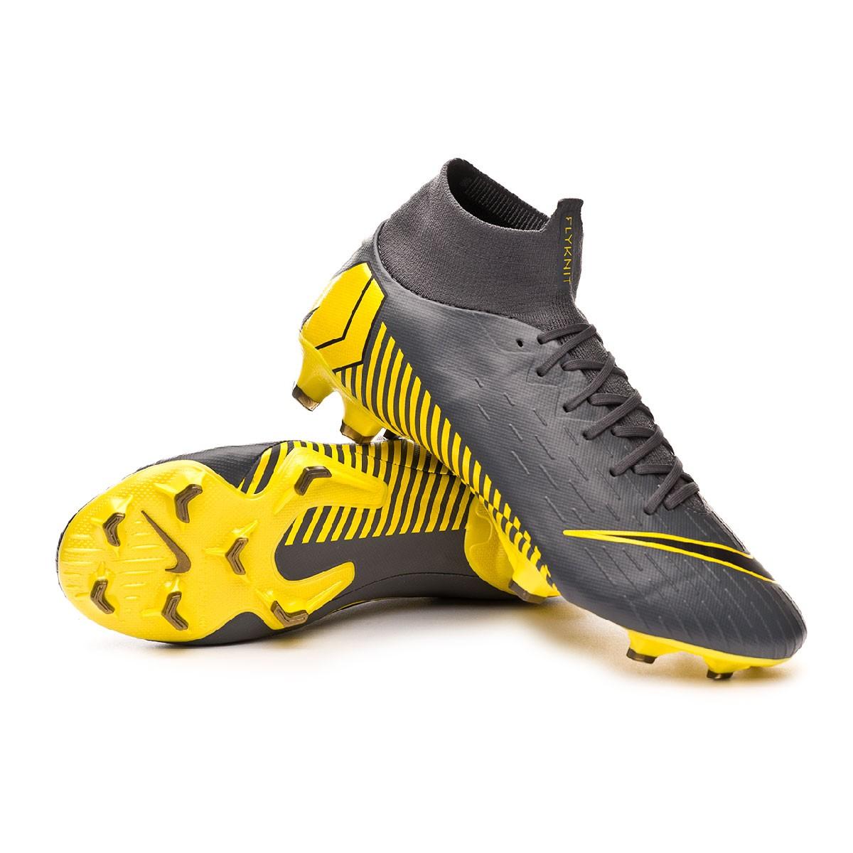 49e057c65 Football Boots Nike Mercurial Superfly VI Pro FG Dark grey-Black-Optical  yellow - Football store Fútbol Emotion