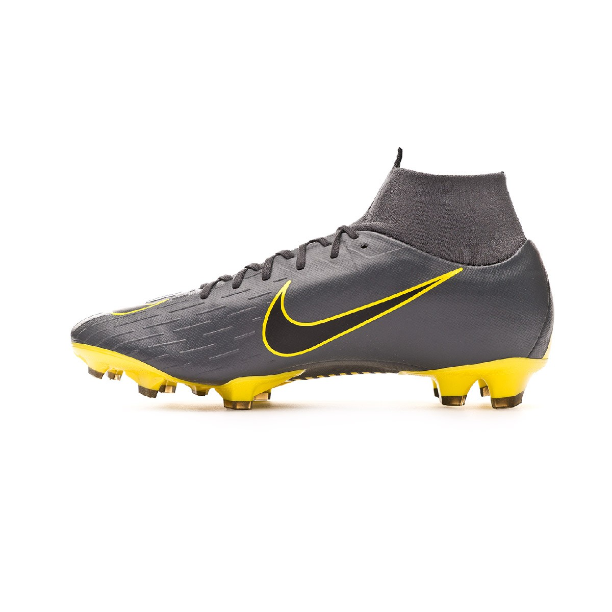 6b48d003d0e3 Football Boots Nike Mercurial Superfly VI Pro FG Dark grey-Black-Optical  yellow - Football store Fútbol Emotion