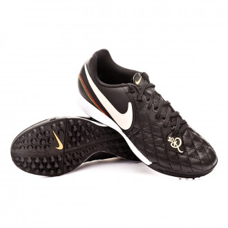 Sapatilhas  Nike Tiempo LegendX VII Academy 10R Turf Black-Light orewood-Metallic gold