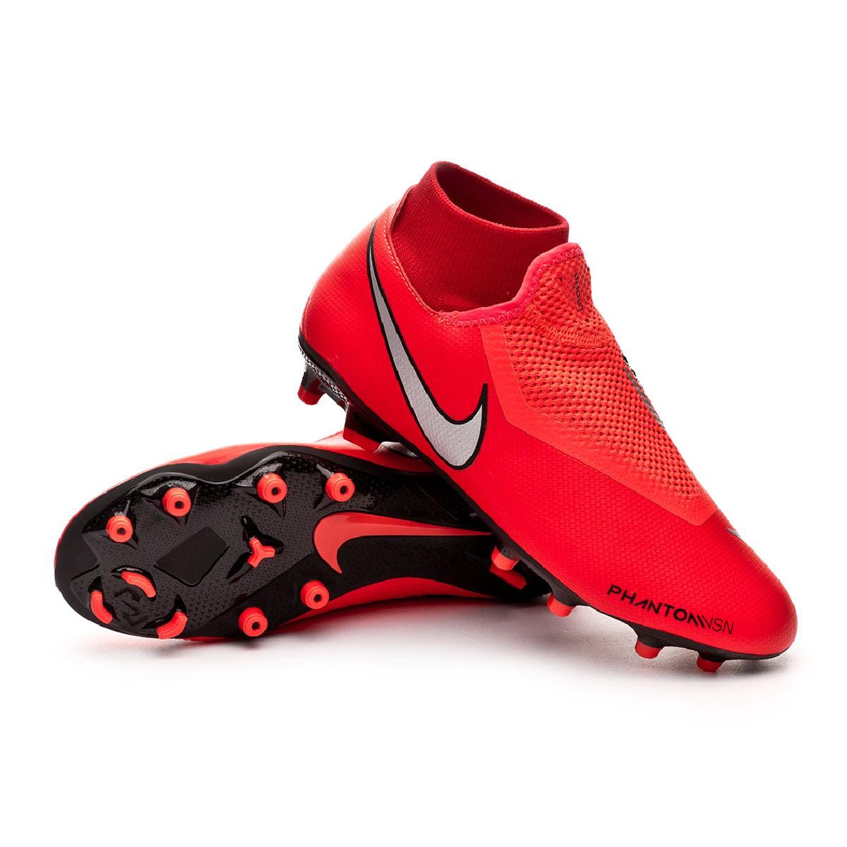 alto Preciso Creación  Football Boots Nike Phantom Vision Academy DF FG/MG Bright crimson-Metallic  silver - Football store Fútbol Emotion