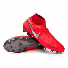Football Boots Phantom Vision Elite DF FG Bright crimson-Metallic silver