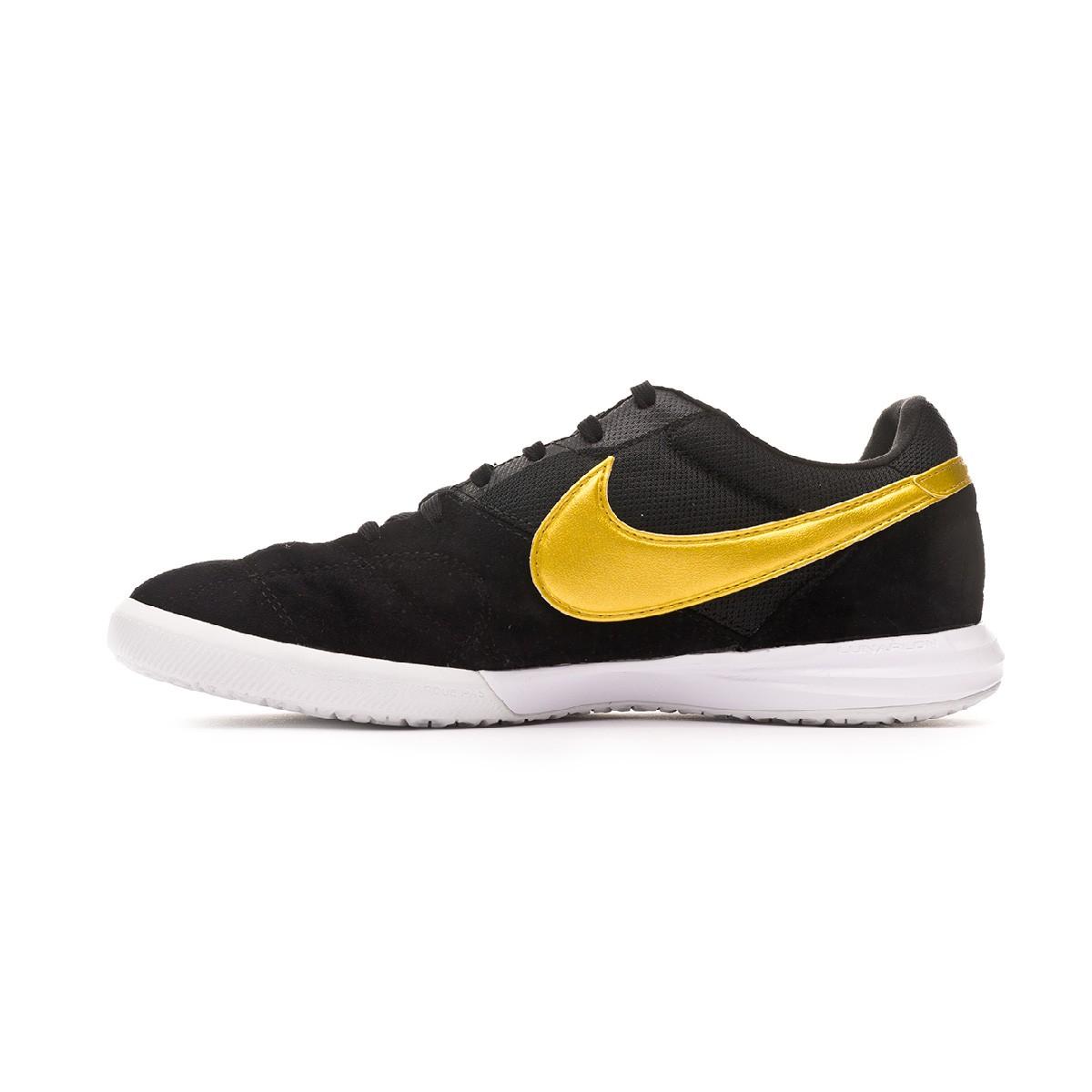 d9a5cbdae Futsal Boot Nike Tiempo Premier II Sala IC Black-Metallic vivid gold-White  - Football store Fútbol Emotion