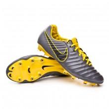 Football Boots Tiempo Legend VII Elite FG Dark grey-Optical yellow-Black