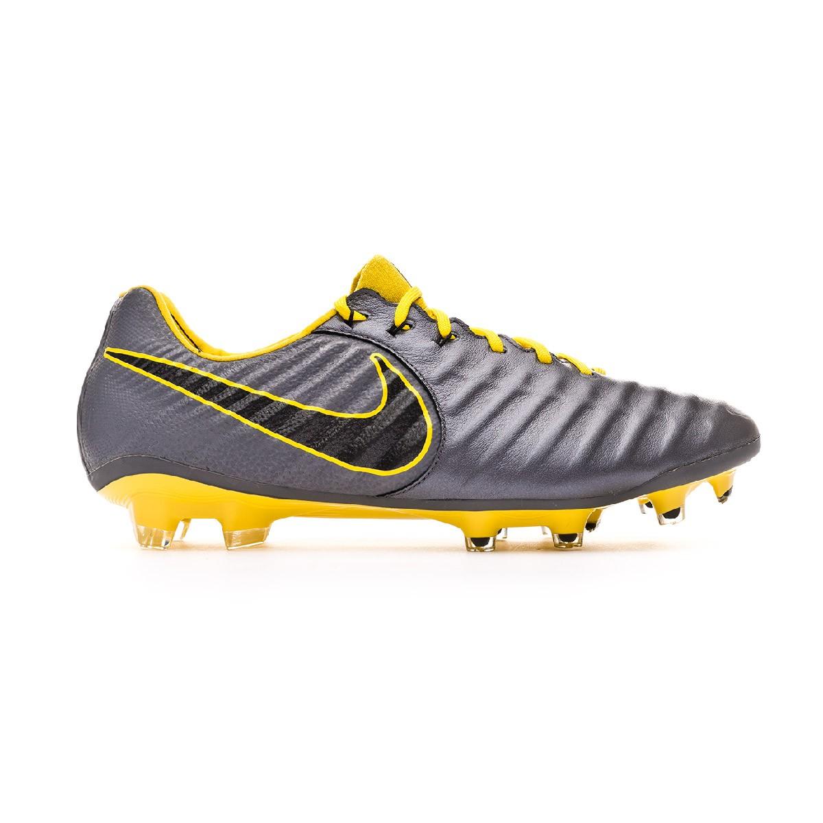 Erudito Error Deshabilitar  Football Boots Nike Tiempo Legend VII Elite FG Dark grey-Optical  yellow-Black - Football store Fútbol Emotion
