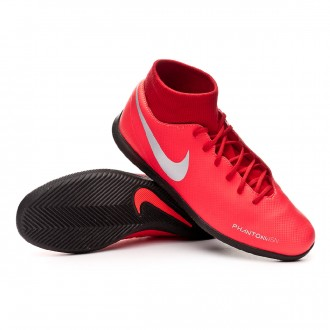 Futsal Boot  Nike Phantom Vision Club DF IC Bright crimson-Metallic silver