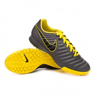 Chaussure de football  Nike Tiempo LegendX VII Academy Turf Dark grey-Black-Optical yellow