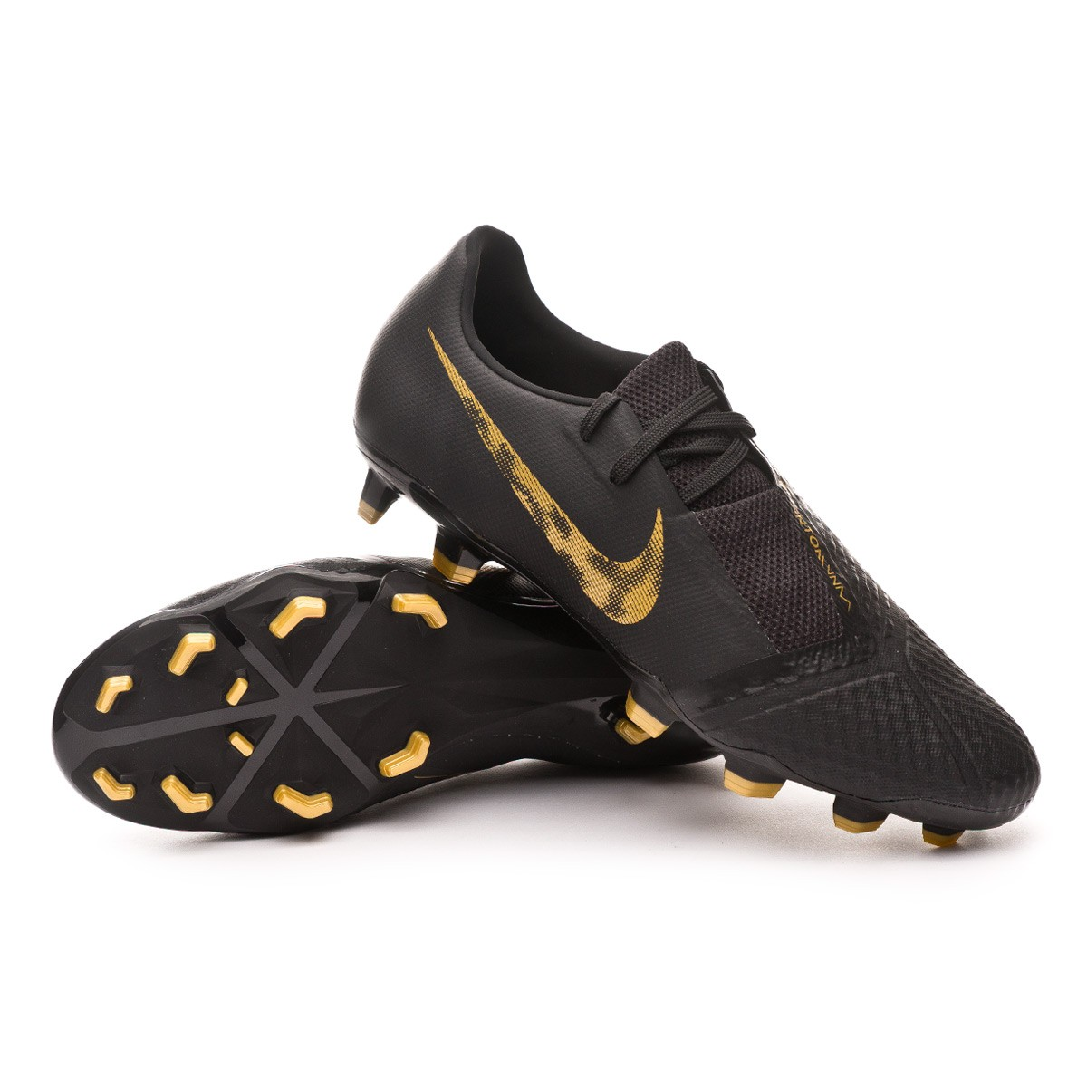 dfa2789f52 Football Boots Nike Kids Phantom Venom Academy FG Black-Metallic ...