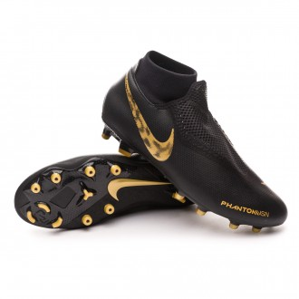 Chuteira  Nike Phantom Vision Academy DF FG/MG Black-Metallic vivid gold