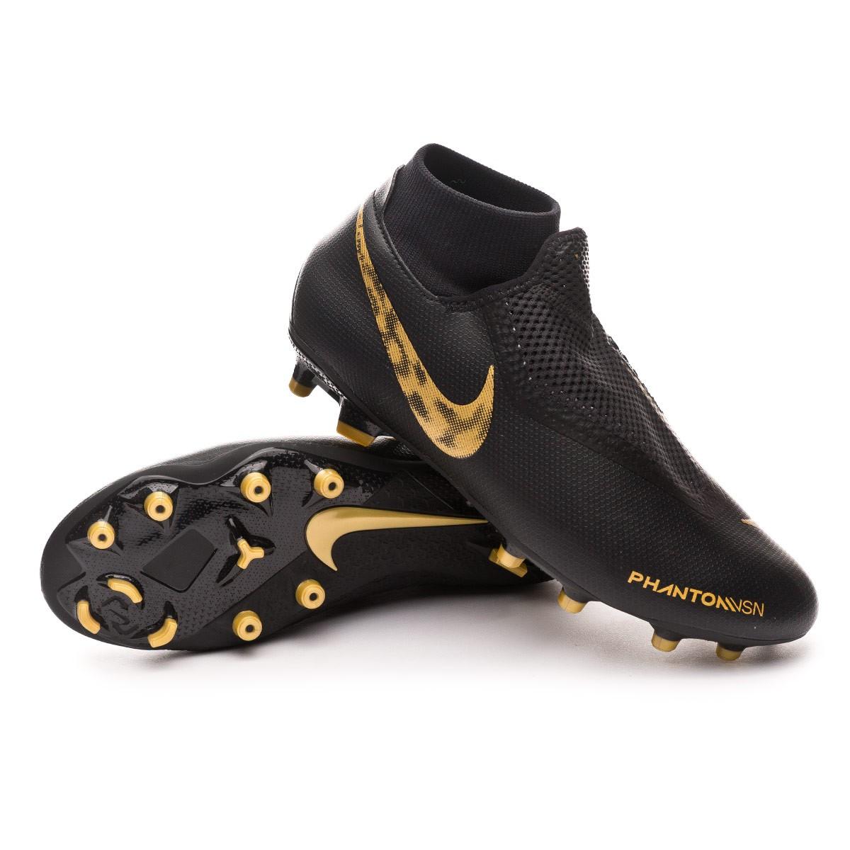 c3b9ca4c6bfaf Football Boots Nike Phantom Vision Academy DF FG MG Black-Metallic ...