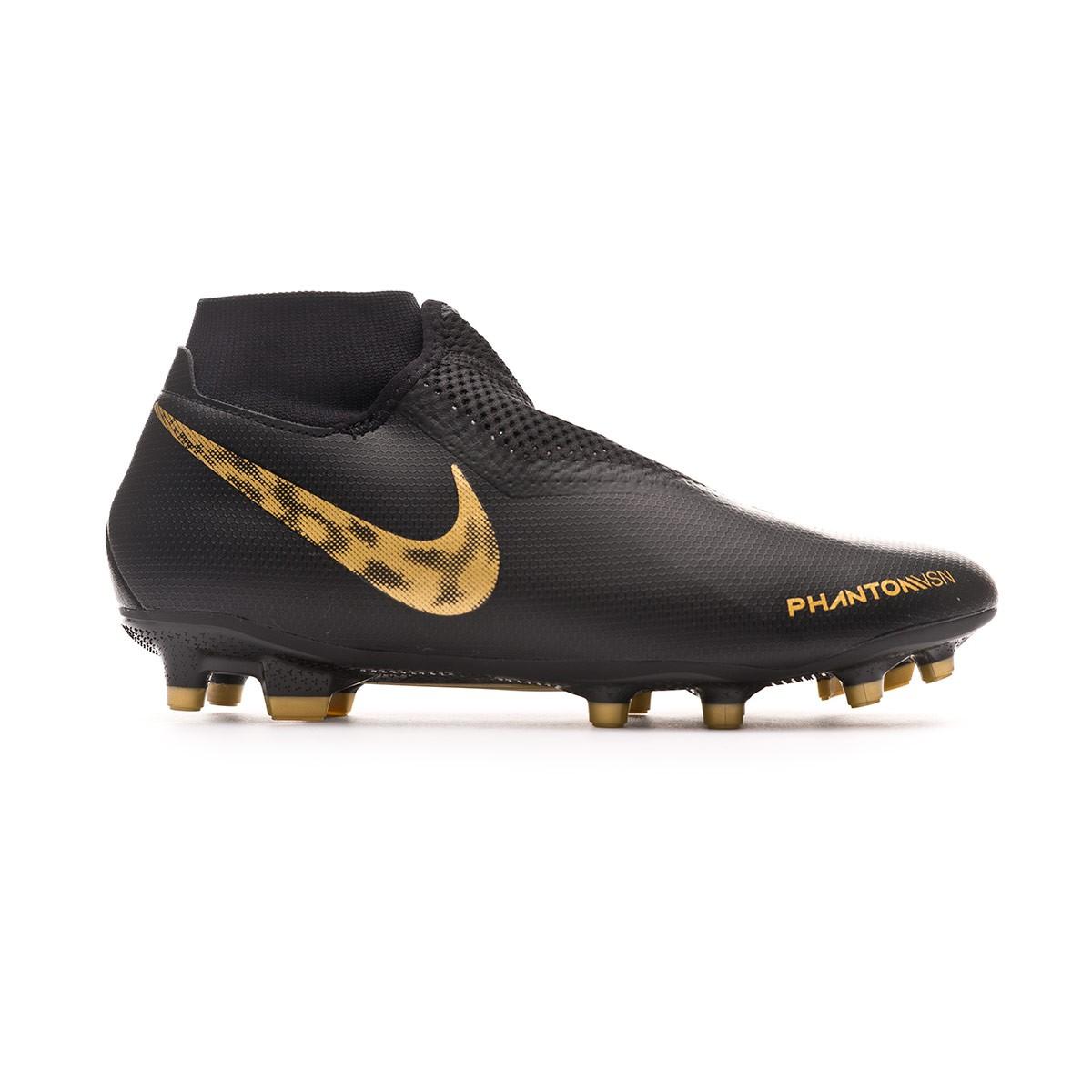 2a84a78e6ae70 Football Boots Nike Phantom Vision Academy DF FG MG Black-Metallic vivid  gold - Tienda de fútbol Fútbol Emotion