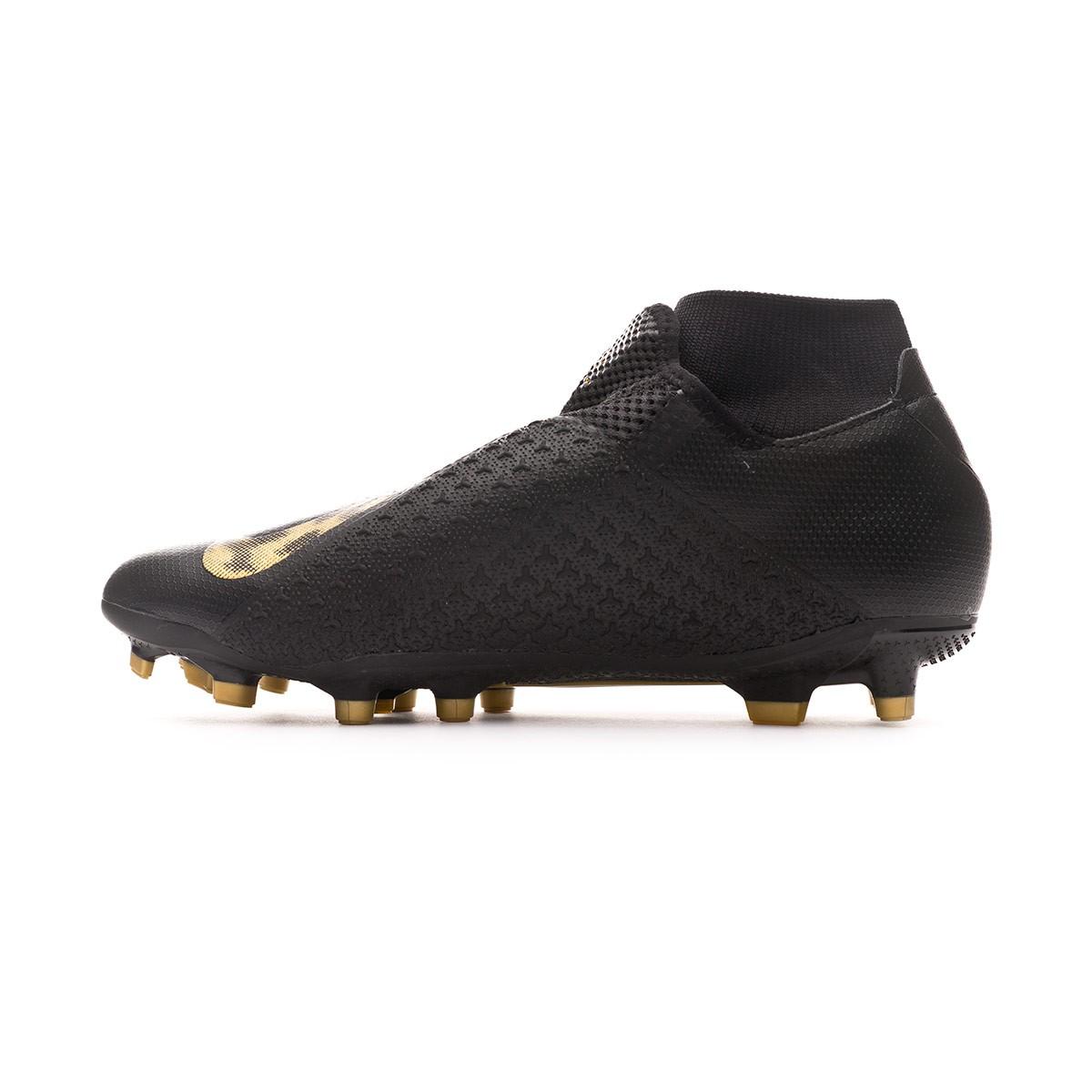 bfc35608561 Zapatos de fútbol Nike Phantom Vision Academy DF FG/MG Black-Metallic vivid  gold - Tienda de fútbol Fútbol Emotion