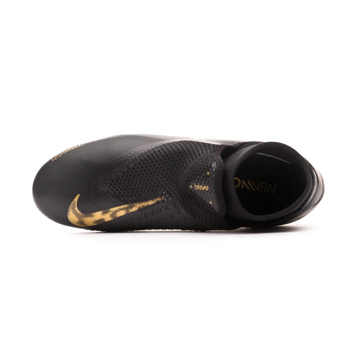 5a21c8f0971ff Football Boots Nike Phantom Vision Academy DF FG MG Black-Metallic vivid  gold - Tienda de fútbol Fútbol Emotion