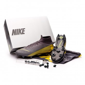 Chaussure de foot  Nike Mercurial Superfly VI Elite Anti-Clog SG-Pro Thunder grey-Black-Dark grey