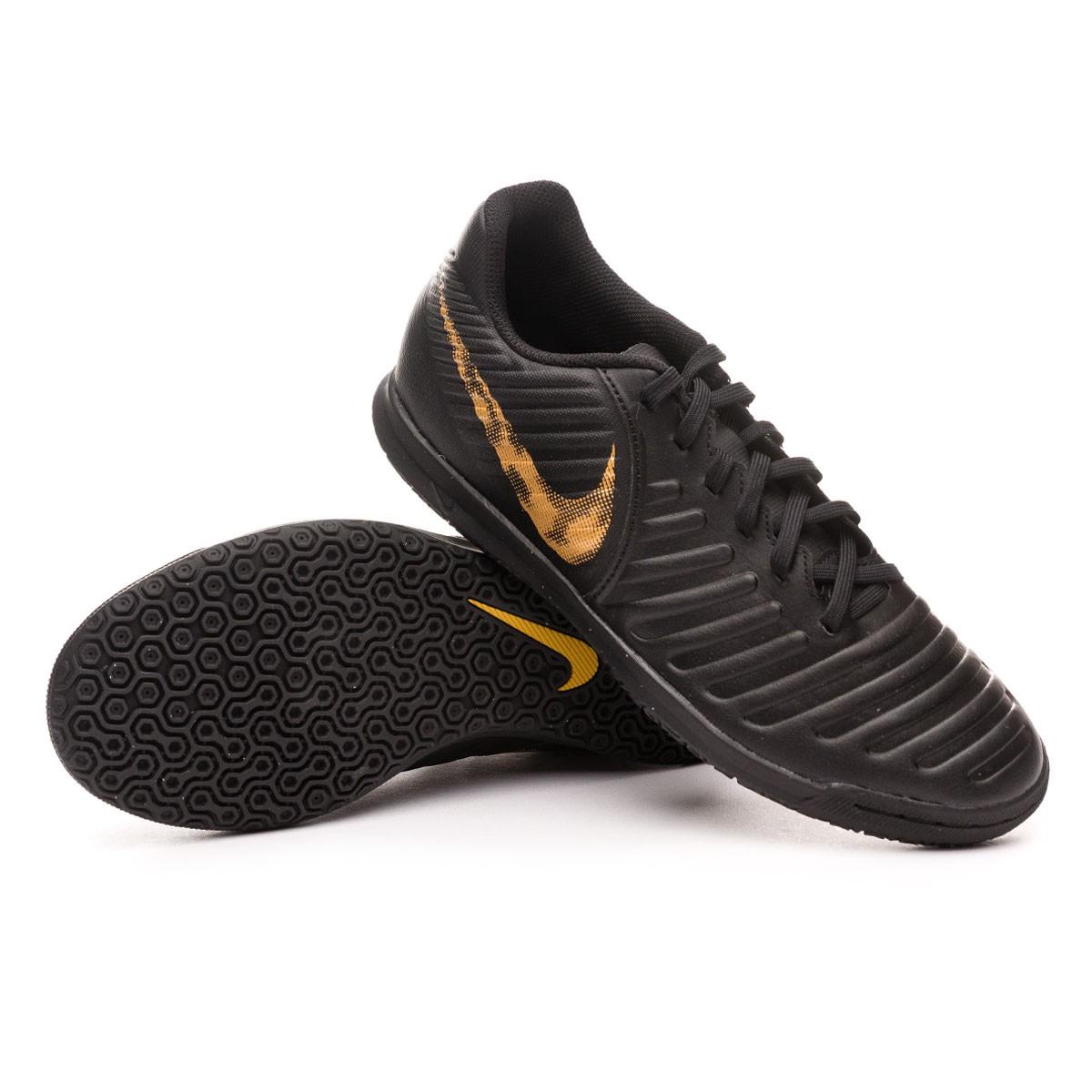 Chuteira Futsal Legendx 7 Nike Preta e Laranja