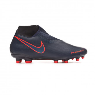 Football Boots  Nike Phantom Vision Academy DF FG/MG Obsidian-Black-Bright crimson