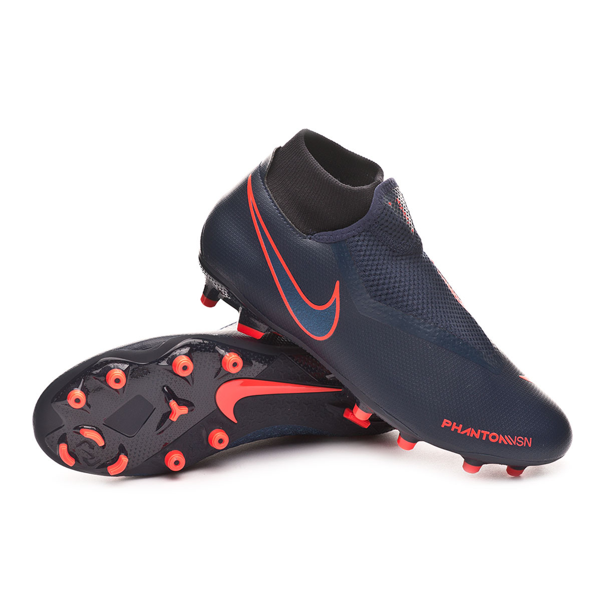 2f066d6a684 Football Boots Nike Phantom Vision Academy DF FG MG Obsidian-Black-Bright  crimson - Football store Fútbol Emotion