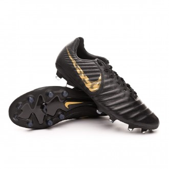 Chaussure de foot  Nike Tiempo Legend VI Pro FG Black-Metallic vivid gold