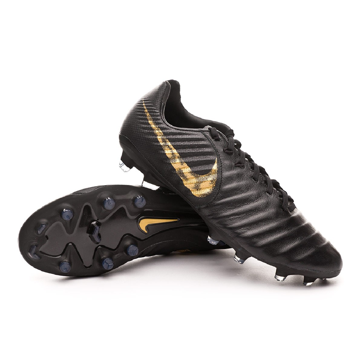 variable fibra desierto  Football Boots Nike Tiempo Legend VI Pro FG Black-Metallic vivid ...