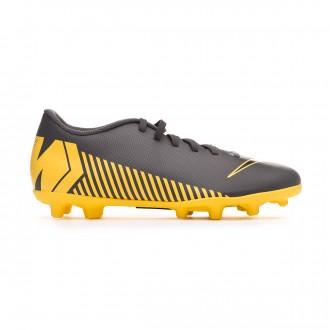 Chaussure de foot  Nike Mercurial Vapor XII Club MG Dark grey-Black-Optical yellow