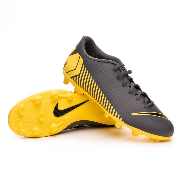 Chuteira Nike Mercurial Vapor XII Club MG Dark grey-Black-Optical ... c5677e75353d4