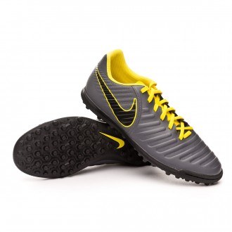 Chaussure de football  Nike Tiempo LegendX VII Club Turf Dark grey-Optical yellow-Black
