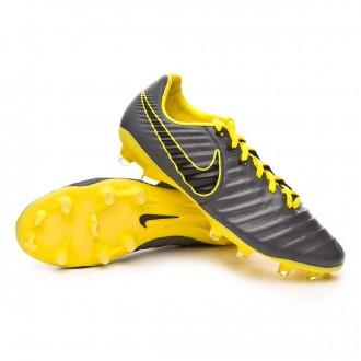 Chaussure de foot  Nike Tiempo Legend VII Pro FG Dark grey-Black-Optical yellow