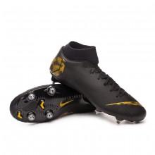 Zapatos de fútbol Mercurial Superfly VI Academy SG-Pro Black-Metallic vivid gold