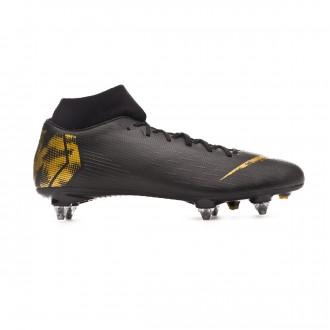 Chuteira  Nike Mercurial Superfly VI Academy SG-Pro Black-Metallic vivid gold