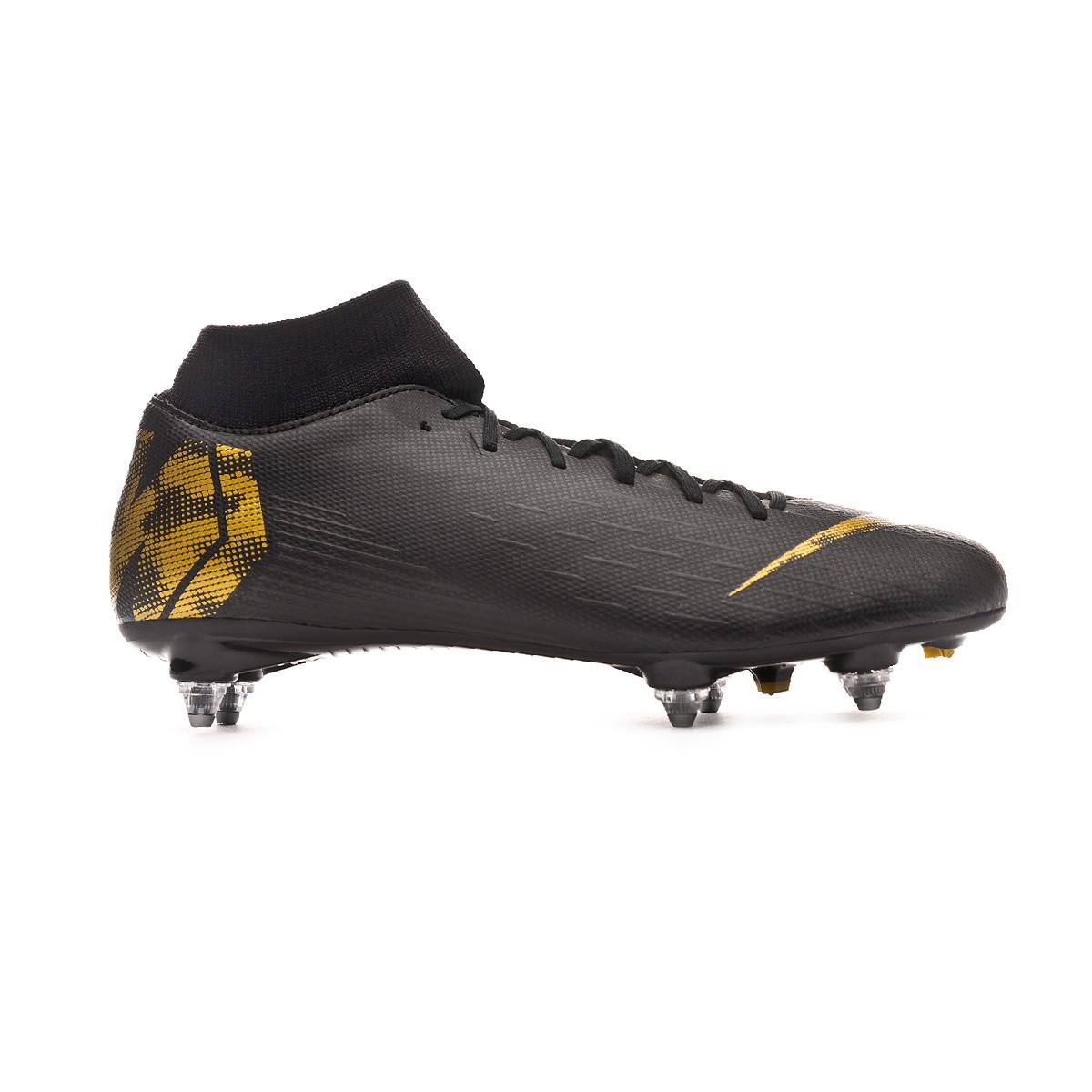 2a6637ed8b8 Zapatos de fútbol Nike Mercurial Superfly VI Academy SG-Pro Black-Metallic  vivid gold - Tienda de fútbol Fútbol Emotion