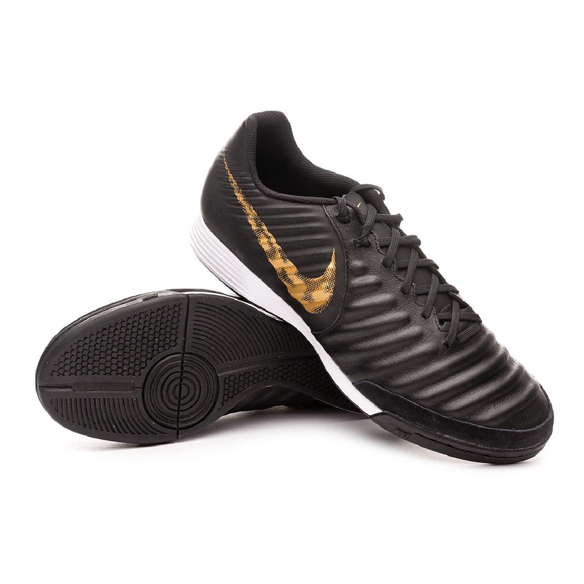 Posteridad Manifestación Paternal  Futsal Boot Nike Tiempo LegendX VII Academy IC Black-Metallic vivid gold -  Football store Fútbol Emotion