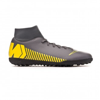 Zapatilla Nike Mercurial SuperflyX VI Club Turf Dark grey-Black-Optical yellow
