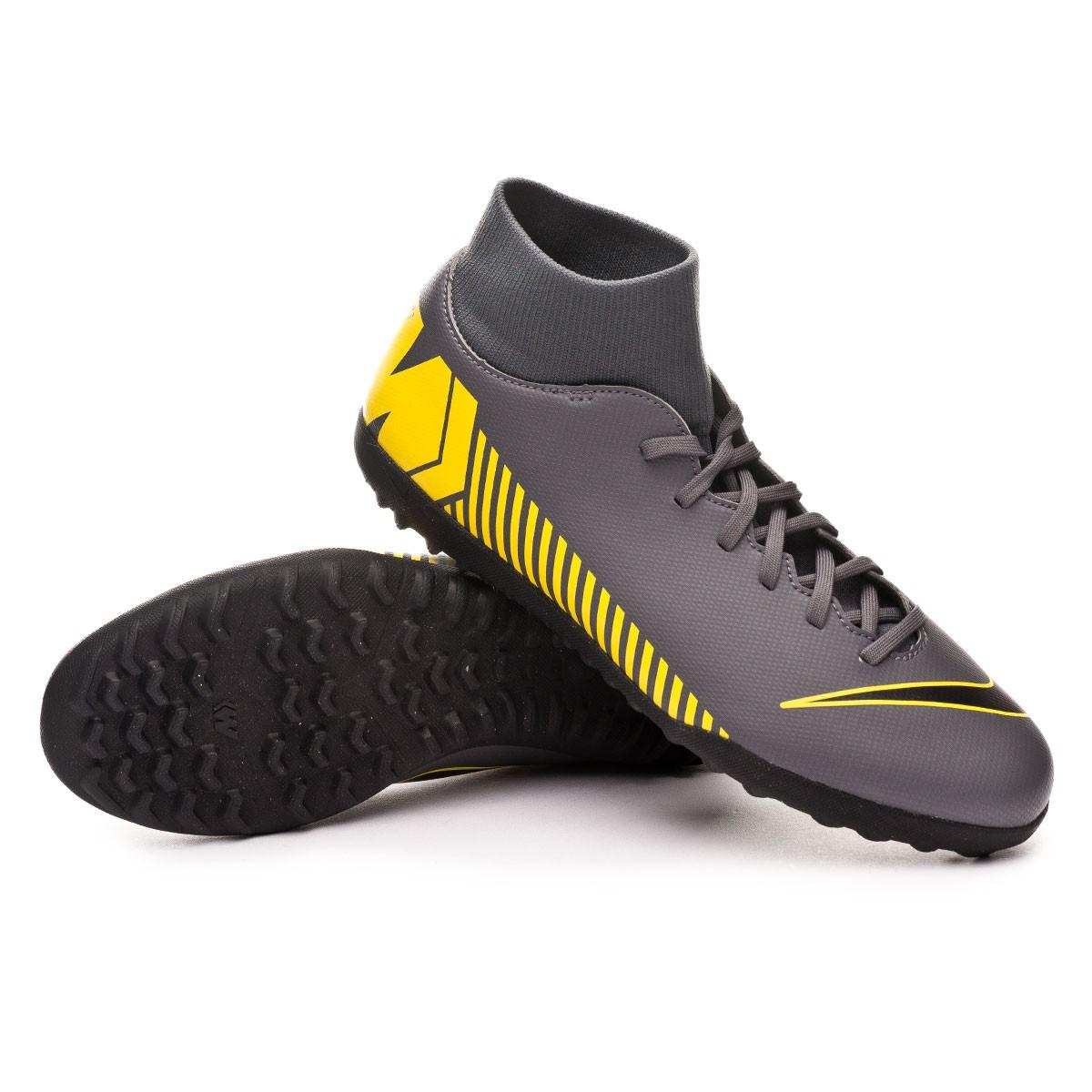4b4c8b28157 Football Boot Nike Mercurial SuperflyX VI Club Turf Dark grey-Black-Optical  yellow - Football store Fútbol Emotion