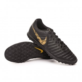 Football Boot  Nike Tiempo LegendX VII Club Turf Black-Metallic vivid gold