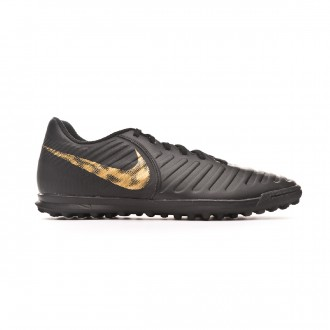 Zapatilla  Nike Tiempo LegendX VII Club Turf Black-Metallic vivid gold