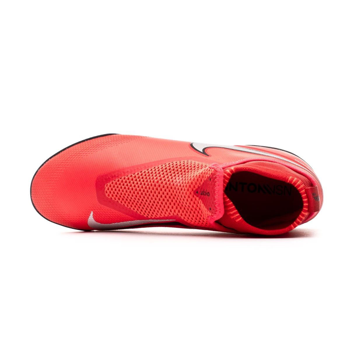 cc90bcf8b95 Football Boot Nike React Phantom Vision Pro DF Turf Bright crimson-Metallic  silver - Football store Fútbol Emotion