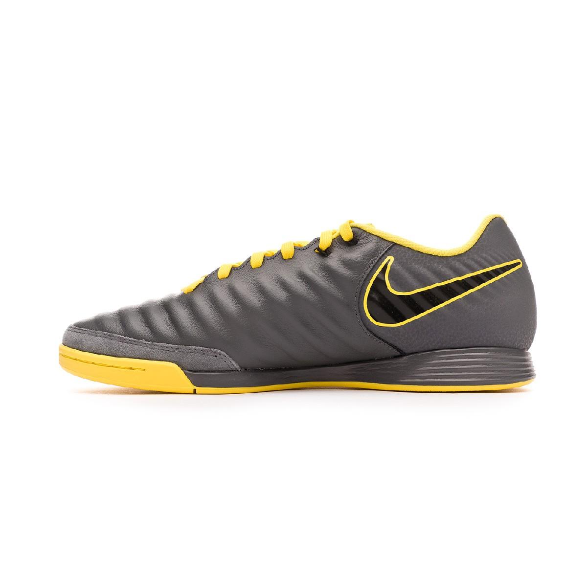Cobertizo arcilla Perfecto  Futsal Boot Nike Tiempo LegendX VII Academy IC Dark grey-Black-Optical  yellow - Football store Fútbol Emotion
