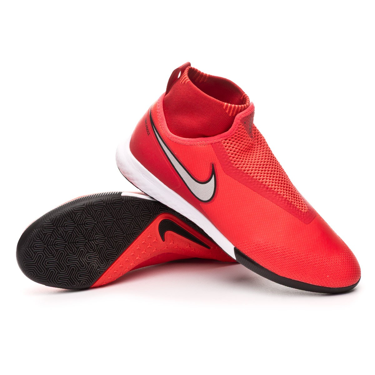 45cff2de1 Futsal Boot Nike React Phantom Vision Pro DF IC Bright crimson-Metallic  silver - Football store Fútbol Emotion