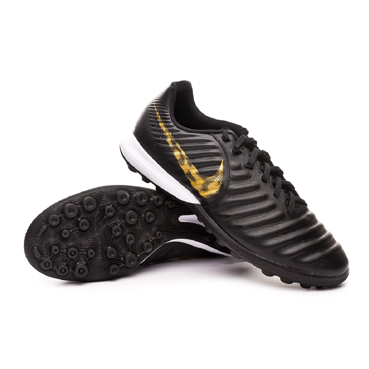 low priced 91a7d 17159 Zapatilla Tiempo LegendX VII Pro Turf Black-Metallic vivid gold