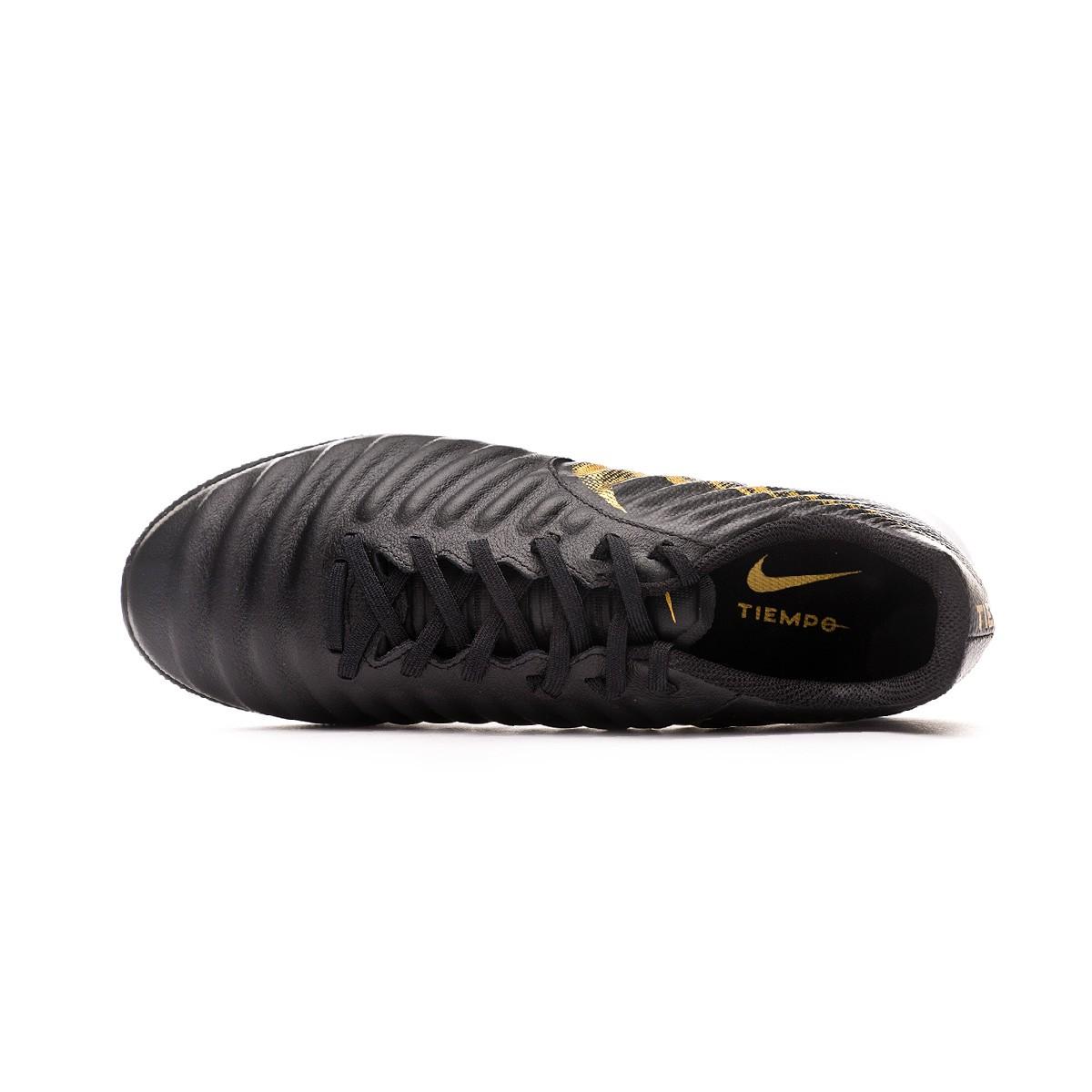 0e39432c2 Football Boot Nike Tiempo LegendX VII Pro Turf Black-Metallic vivid gold -  Football store Fútbol Emotion