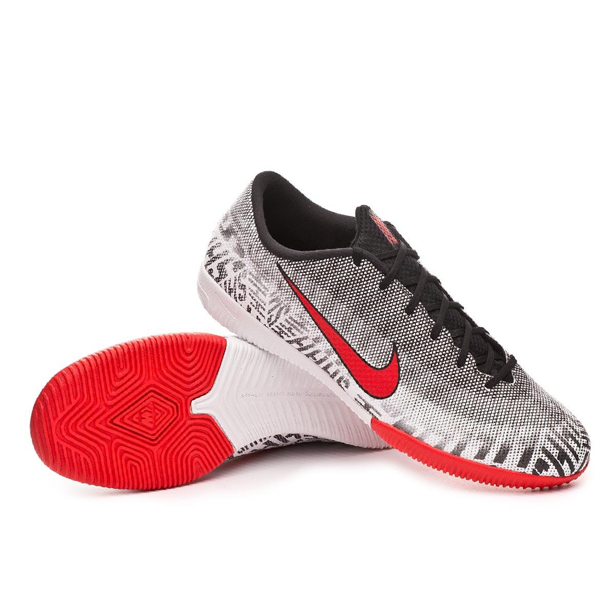 a9573d15ca5 Futsal Boot Nike Mercurial VaporX XII Academy Neymar Jr IC White-Challenge  red-Black - Football store Fútbol Emotion