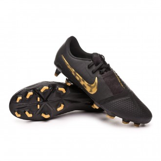 Chaussure de foot  Nike Phantom Venom Pro FG Black-Metallic vivid gold