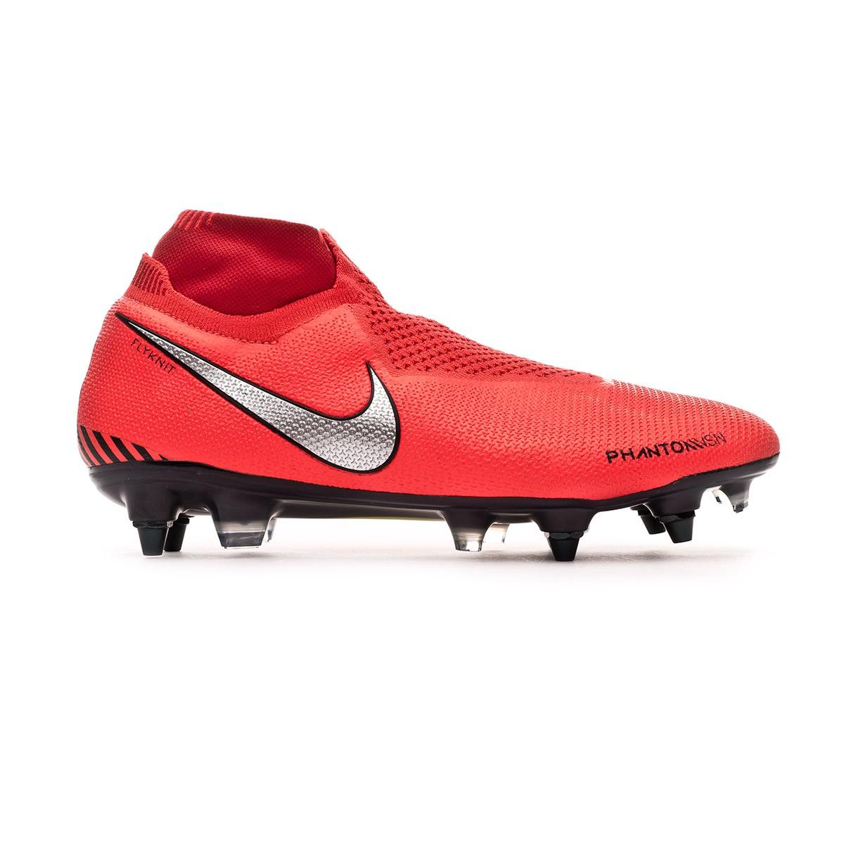 e6b33d92016c Football Boots Nike Phantom Vision Elite DF SG-Pro ACC Bright  crimson-Metallic silver - Football store Fútbol Emotion